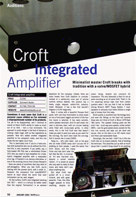 Welcome to Croft Acoustics +44(0)1723 355111 (The official